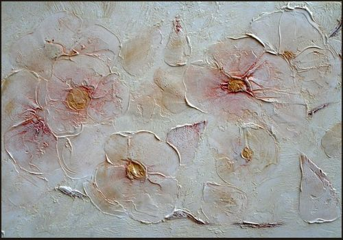Цветы из штукатурки