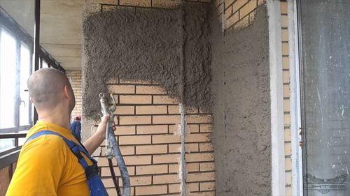 Машинная отделка стен